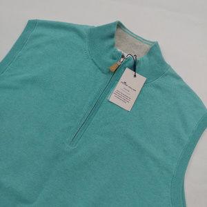 Peter Millar Men's Crown Soft 1/4 Zip Vest Size M